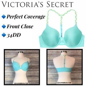 VS Perfect Coverage Braided Racerback Bra, Sz 34DD
